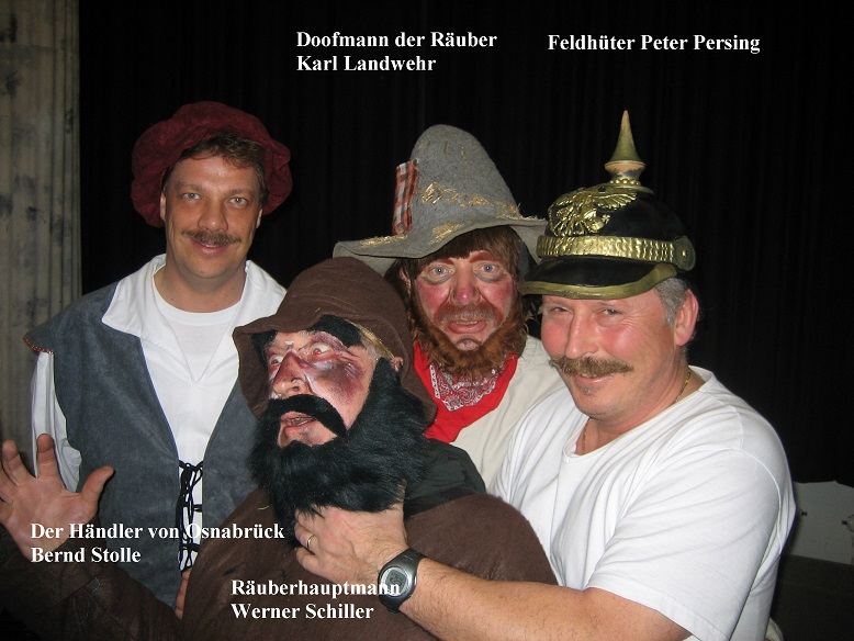 Räuber, Hauptmann, Doofmann, P.Persing, B.Stolle